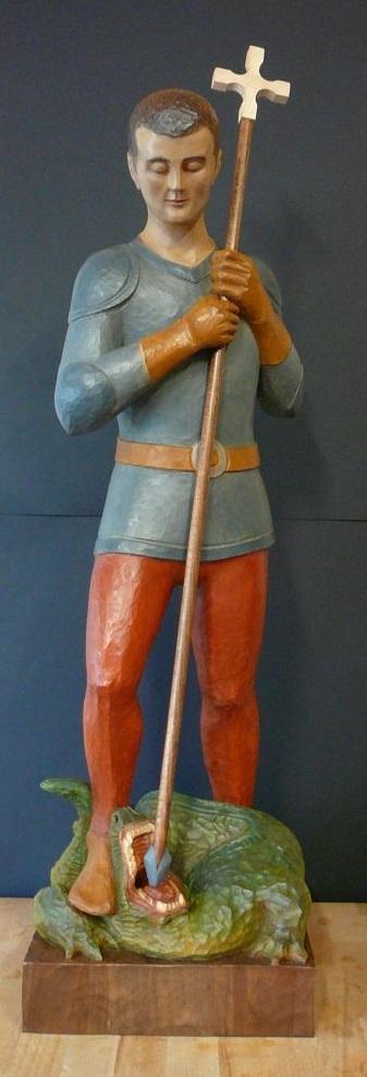 Statue de Saint Georges - Atelier Epiphanie création